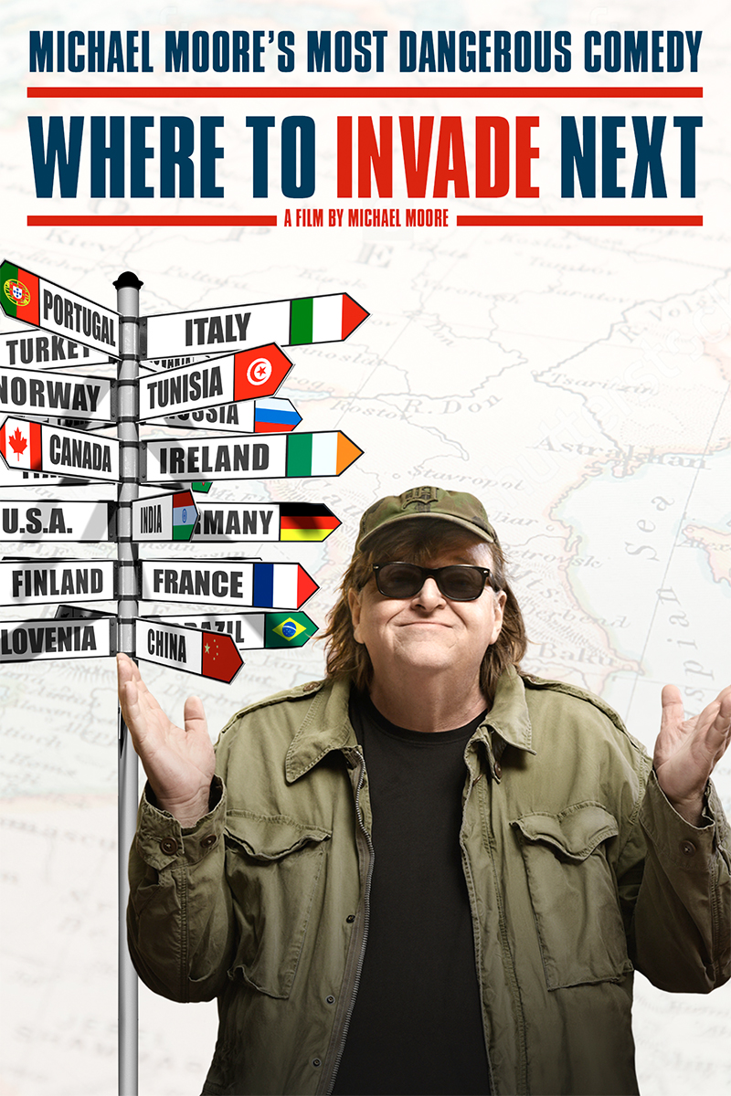 Куда бы ещё вторгнуться / Where to Invade Next (Майкл Мур) онлайн